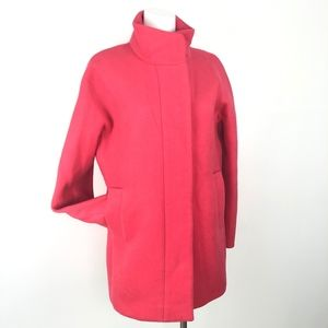 J. Crew | Coral Pink Wool Long Over Coat Lady